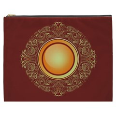 Badge Gilding Sun Red Oriental Cosmetic Bag (xxxl)  by Nexatart