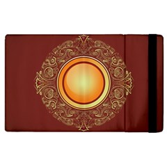 Badge Gilding Sun Red Oriental Apple Ipad 2 Flip Case by Nexatart