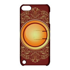 Badge Gilding Sun Red Oriental Apple Ipod Touch 5 Hardshell Case With Stand