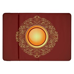 Badge Gilding Sun Red Oriental Samsung Galaxy Tab 8 9  P7300 Flip Case