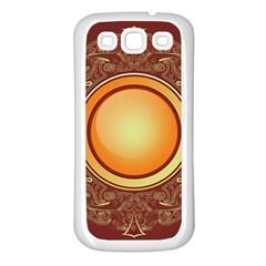 Badge Gilding Sun Red Oriental Samsung Galaxy S3 Back Case (white) by Nexatart