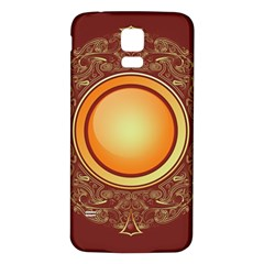 Badge Gilding Sun Red Oriental Samsung Galaxy S5 Back Case (white)
