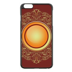 Badge Gilding Sun Red Oriental Apple Iphone 6 Plus/6s Plus Black Enamel Case