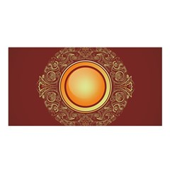 Badge Gilding Sun Red Oriental Satin Shawl