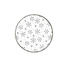 Black Holiday Snowflakes Hat Clip Ball Marker (10 Pack) by Mariart