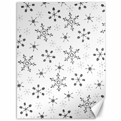 Black Holiday Snowflakes Canvas 36  X 48   by Mariart