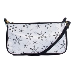 Black Holiday Snowflakes Shoulder Clutch Bags by Mariart