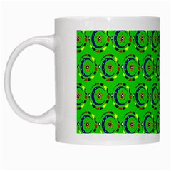 Abstract Art Circles Swirls Stars White Mugs by Nexatart