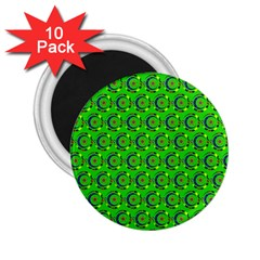 Abstract Art Circles Swirls Stars 2 25  Magnets (10 Pack)