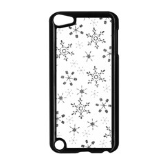 Black Holiday Snowflakes Apple Ipod Touch 5 Case (black) by Mariart