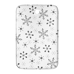 Black Holiday Snowflakes Samsung Galaxy Note 8 0 N5100 Hardshell Case  by Mariart