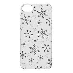 Black Holiday Snowflakes Apple Iphone 5s/ Se Hardshell Case