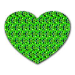 Abstract Art Circles Swirls Stars Heart Mousepads by Nexatart