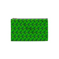 Abstract Art Circles Swirls Stars Cosmetic Bag (small)  by Nexatart