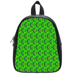 Abstract Art Circles Swirls Stars School Bag (small)