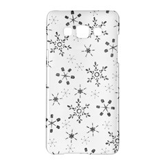 Black Holiday Snowflakes Samsung Galaxy A5 Hardshell Case