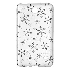 Black Holiday Snowflakes Samsung Galaxy Tab 4 (8 ) Hardshell Case  by Mariart