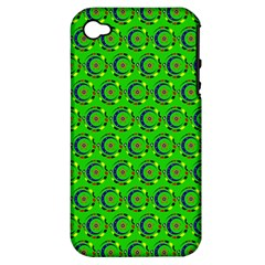 Abstract Art Circles Swirls Stars Apple Iphone 4/4s Hardshell Case (pc+silicone)