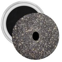 Black Hole Blue Space Galaxy Star Light 3  Magnets by Mariart