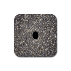 Black Hole Blue Space Galaxy Star Light Rubber Coaster (square)  by Mariart