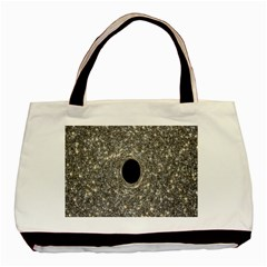 Black Hole Blue Space Galaxy Star Light Basic Tote Bag by Mariart