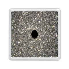 Black Hole Blue Space Galaxy Star Light Memory Card Reader (square)  by Mariart