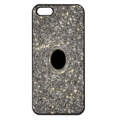 Black Hole Blue Space Galaxy Star Light Apple Iphone 5 Seamless Case (black) by Mariart