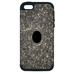 Black Hole Blue Space Galaxy Star Light Apple Iphone 5 Hardshell Case (pc+silicone) by Mariart