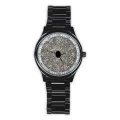 Black Hole Blue Space Galaxy Star Light Stainless Steel Round Watch by Mariart