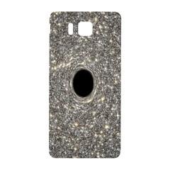 Black Hole Blue Space Galaxy Star Light Samsung Galaxy Alpha Hardshell Back Case by Mariart