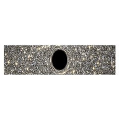 Black Hole Blue Space Galaxy Star Light Satin Scarf (oblong) by Mariart