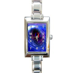 Blue Red Eye Space Hole Galaxy Rectangle Italian Charm Watch by Mariart