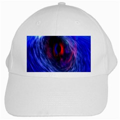 Blue Red Eye Space Hole Galaxy White Cap by Mariart