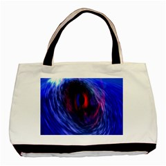 Blue Red Eye Space Hole Galaxy Basic Tote Bag (two Sides) by Mariart