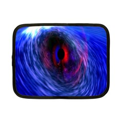 Blue Red Eye Space Hole Galaxy Netbook Case (small)  by Mariart
