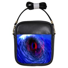 Blue Red Eye Space Hole Galaxy Girls Sling Bags by Mariart