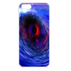 Blue Red Eye Space Hole Galaxy Apple Iphone 5 Seamless Case (white) by Mariart