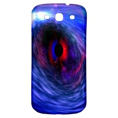 Blue Red Eye Space Hole Galaxy Samsung Galaxy S3 S Iii Classic Hardshell Back Case by Mariart
