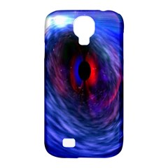 Blue Red Eye Space Hole Galaxy Samsung Galaxy S4 Classic Hardshell Case (pc+silicone) by Mariart