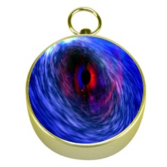 Blue Red Eye Space Hole Galaxy Gold Compasses by Mariart