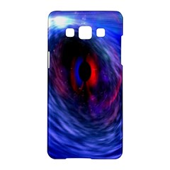 Blue Red Eye Space Hole Galaxy Samsung Galaxy A5 Hardshell Case  by Mariart