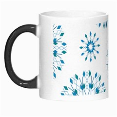Blue Winter Snowflakes Star Triangle Morph Mugs by Mariart