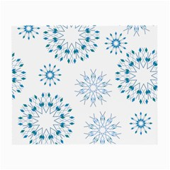 Blue Winter Snowflakes Star Triangle Small Glasses Cloth (2 Side) by Mariart