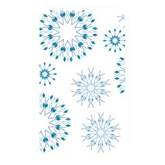 Blue Winter Snowflakes Star Triangle Memory Card Reader by Mariart