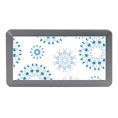 Blue Winter Snowflakes Star Triangle Memory Card Reader (mini) by Mariart