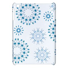 Blue Winter Snowflakes Star Triangle Apple Ipad Mini Hardshell Case by Mariart