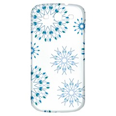 Blue Winter Snowflakes Star Triangle Samsung Galaxy S3 S Iii Classic Hardshell Back Case by Mariart