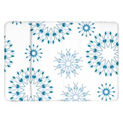 Blue Winter Snowflakes Star Triangle Samsung Galaxy Tab 8 9  P7300 Flip Case by Mariart