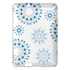 Blue Winter Snowflakes Star Triangle Kindle Fire Hdx Hardshell Case by Mariart