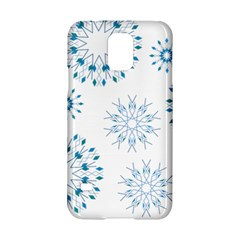 Blue Winter Snowflakes Star Triangle Samsung Galaxy S5 Hardshell Case  by Mariart